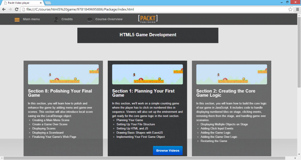Video Course Review: HTML5 Game Development (Packt Publishing) (1/4)