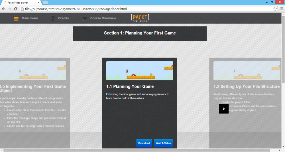 Video Course Review: HTML5 Game Development (Packt Publishing) (2/4)